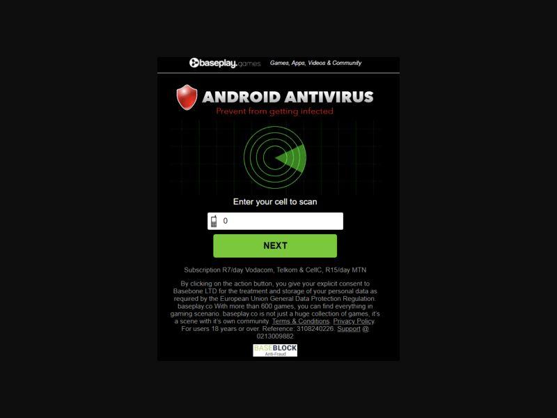 ZA - Baseplay Antivirus [ZA] - 2 click