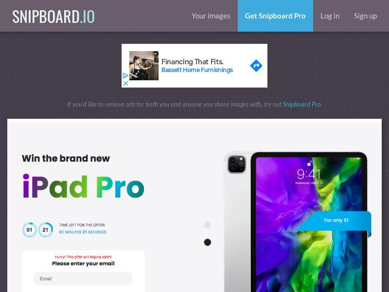 MagnificentPrize - iPad Pro UK - CC Submit