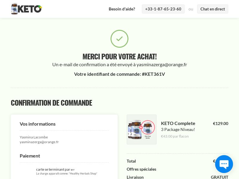 KETO Complete (French Lang) Global - SS
