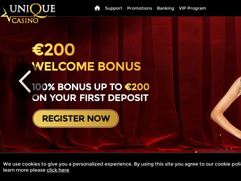 Unique Casino [FR,ES,DE,IT,JP,CA,NO,SE] (Email,Social,Banner,PPC,Native,SEO,Search) - CPA