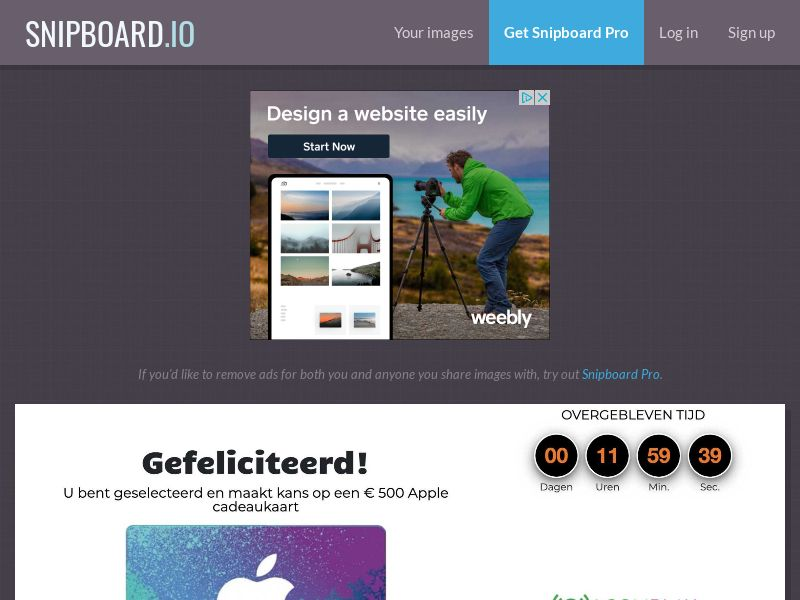 CoreSweeps - Apple Giftcard 500 EUR BE - CC Submit