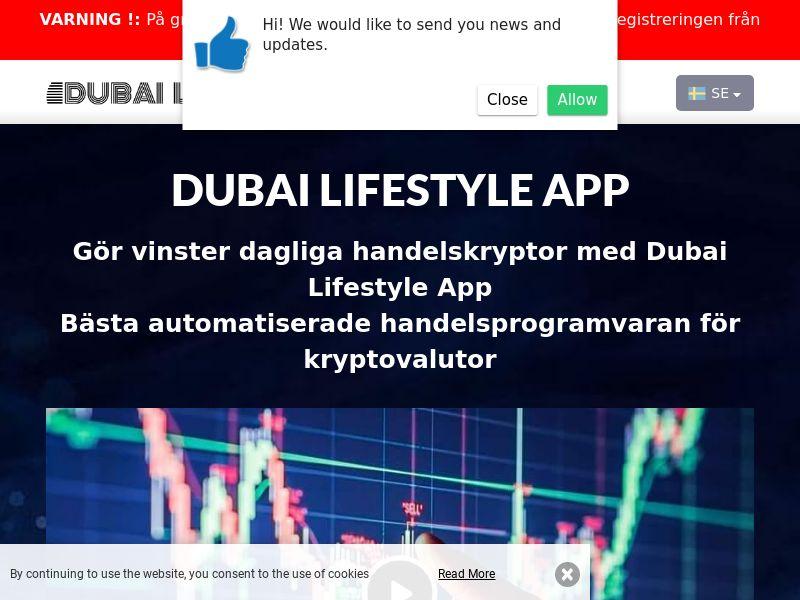 Dubai Lifestyle App Swedish 2242