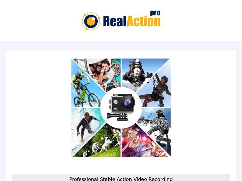 RealAction Pro - Action Camera (PPS) - eCommerce - WW