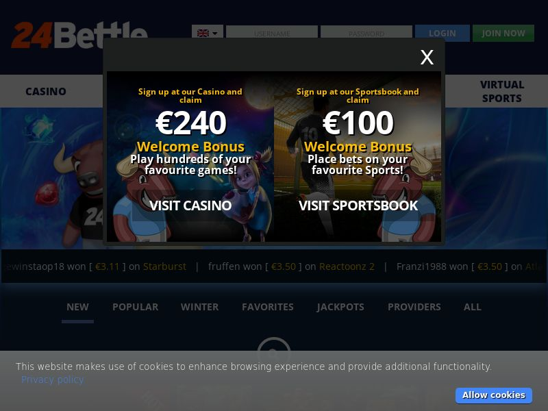 24Bettle.com Casino CPA - DE, NL, FI, NO, NZ & CA
