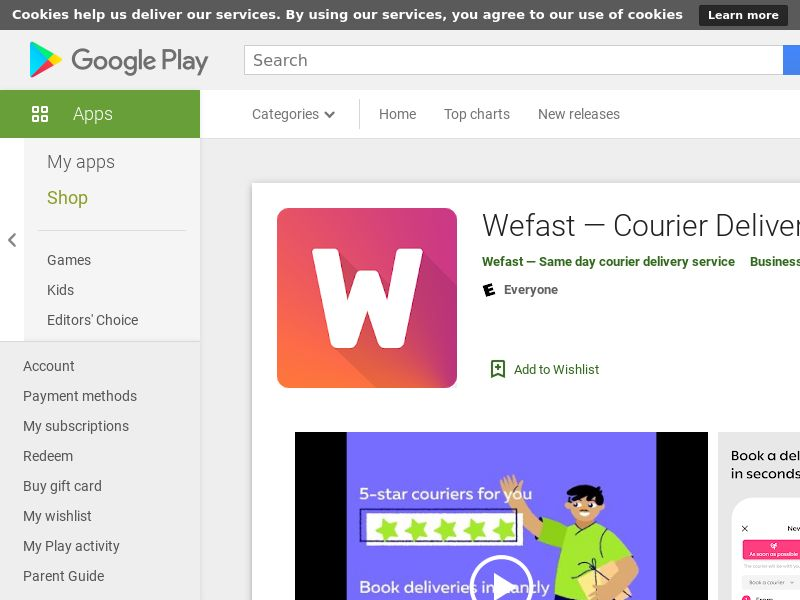 Wefast — Courier Delivery Service