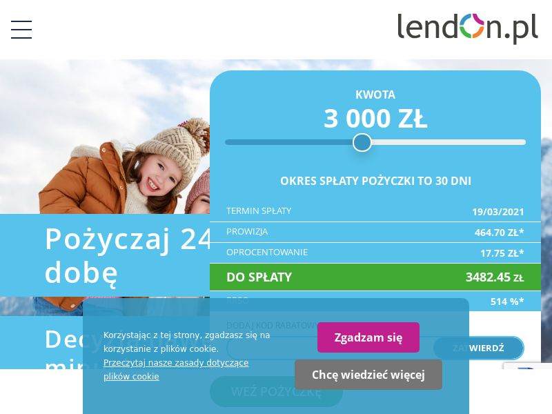 LendOn.pl (PL), [CPA], Business, Loans, Short term loans, Loan Approval, loan, money, credit