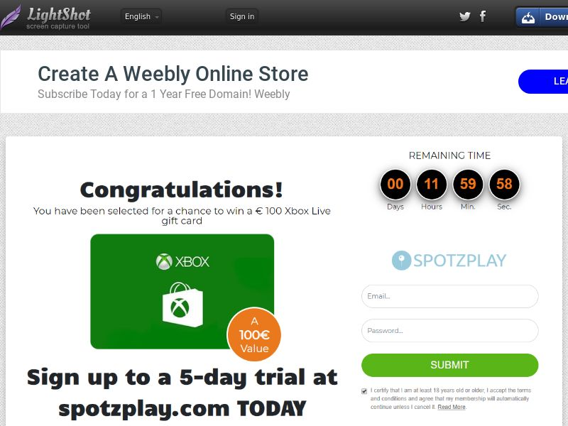 Sugar Beats Xbox Live Gift Card (Sweepstake) (CC Trial) - New Zealand