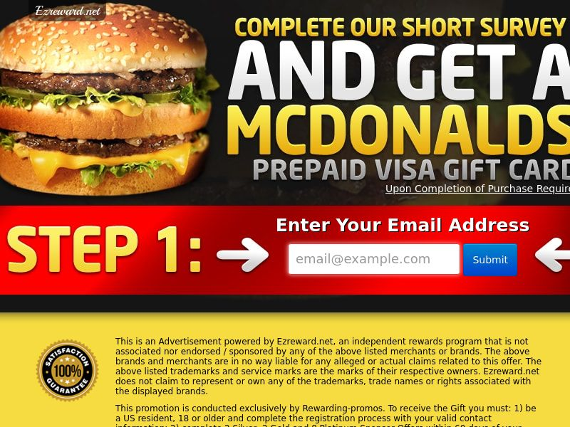 McDonalds Gift Card - Incent - US