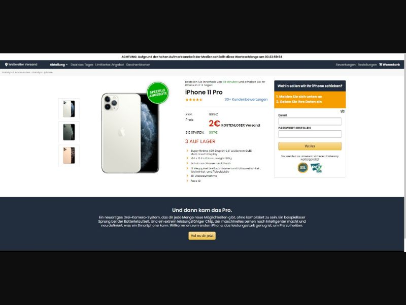 iPhone 11 Pro - Sweepstakes & Surveys - Trial - [32 GEOs]