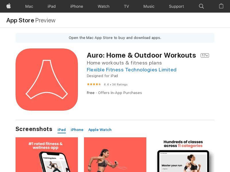 Auro iOS US, UK, CA, AU, DE, FR, IT