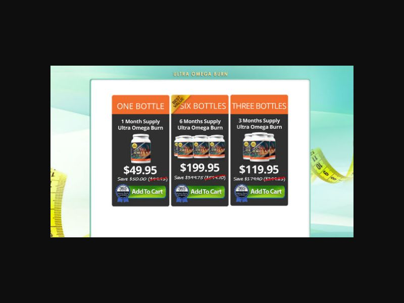 Ultra Omega Burn - Weight Loss - US (Organic & Email Only)