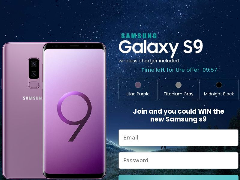 9259) [WEB+WAP] Win Galaxy 9 - PL - CPA cc submit