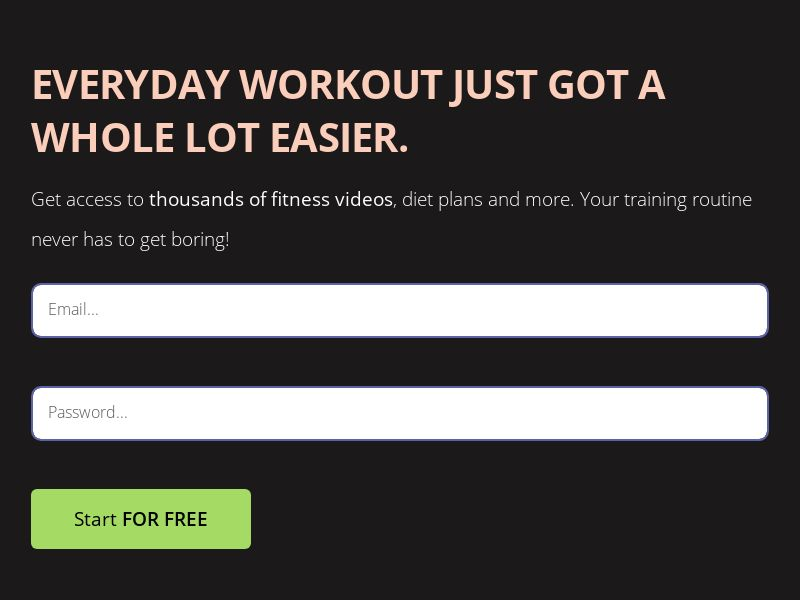 [WEB/WAP] HoltGamez - Fitness Videos (Trial; CC submit) United Kingdom