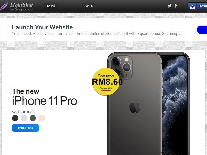 winlotsofthings iPhone 11 Pro (Sweepstake) (CC Trial) - Malaysia [MY]