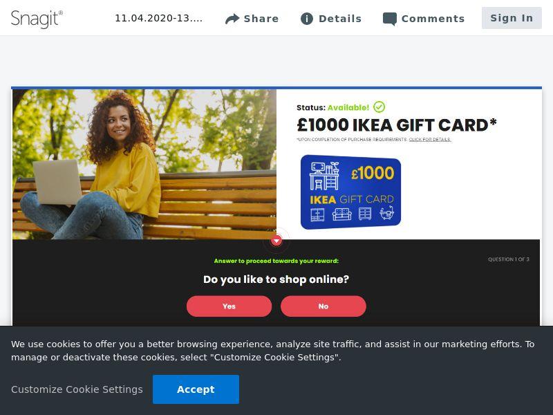 Ikea £1000 - SOI | UK