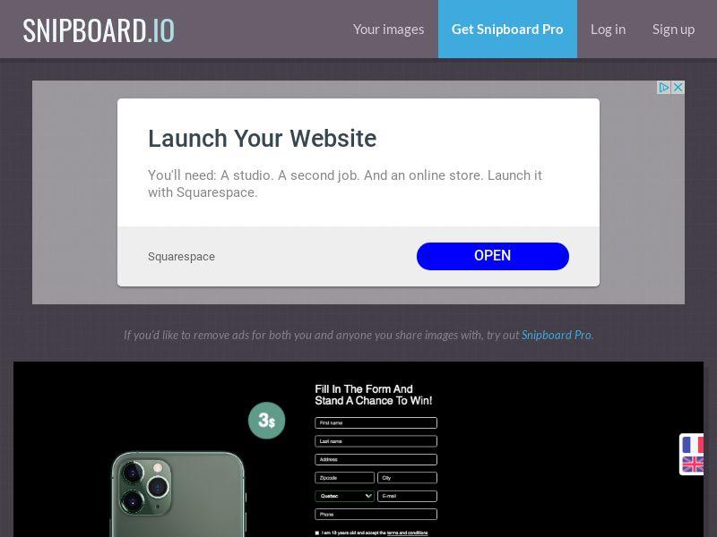 BigEntry - iPhone 11 Pro v1 CA - CC Submit (english/french)