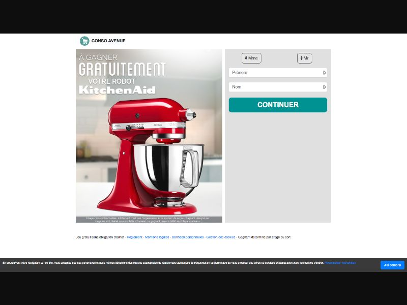 Conso Avenue - Kitchen Aid - INCENT - FR