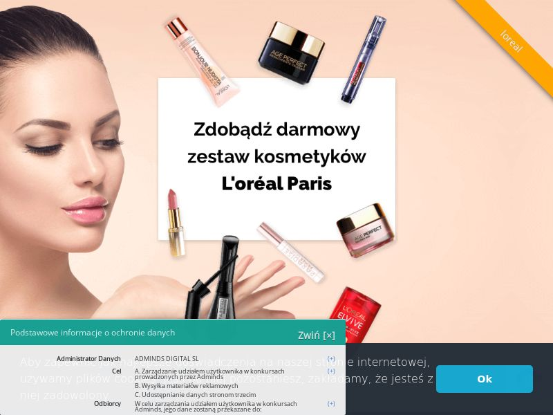 L'Oreal - PL (PL), [CPL], Health and Beauty, Cosmetics, Lotteries and Contests, Single Opt-In, coronavirus, corona, virus, keto, diet, weight, fitness, face mask, paypal, survey, gift, gift card, free, amazon