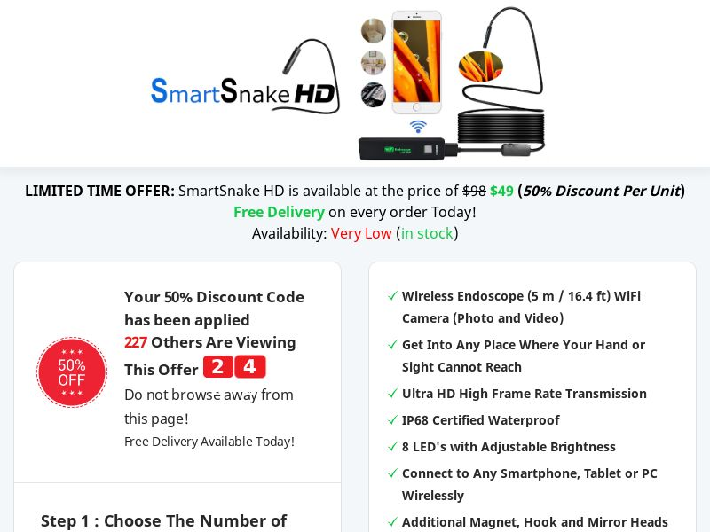 SmartSnake HD - Best Deal Today
