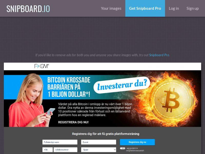 41391 - SE - Crypto - FXGM - Bitcoin - (SE) - CPA - [min FTD 200€]