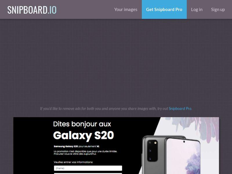 MyeBooky - Samsung Galaxy S20 LP43 FR - CC Submit