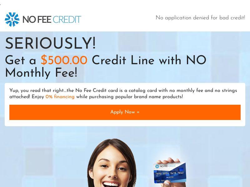 NoFeeCredit - Non Incent