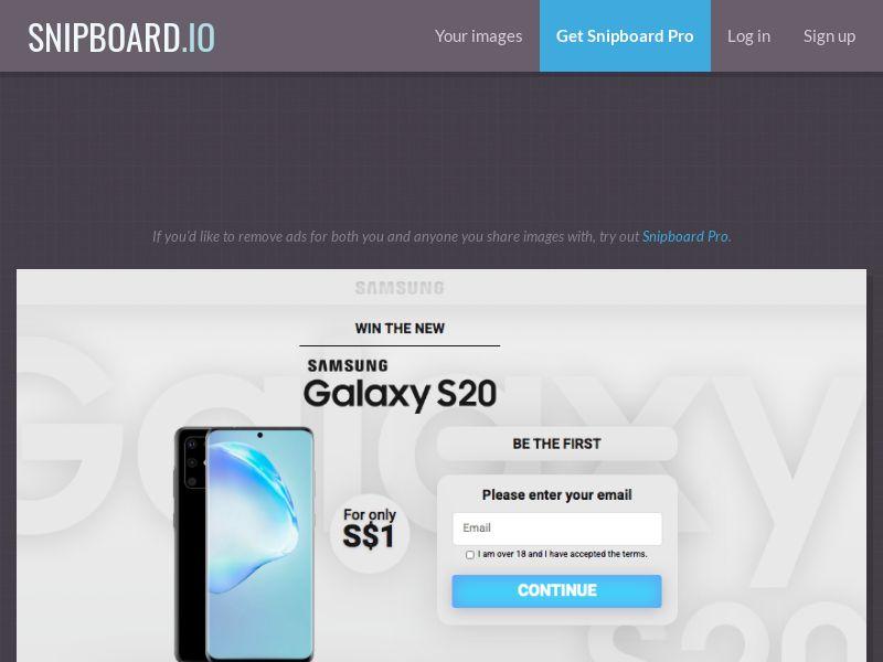 MagnificentPrize - Samsung Galaxy S20 Light SG - CC Submit