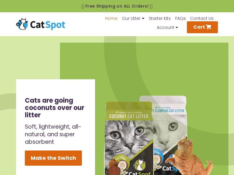 CatSpot Litter - All-Natural Organic Coconut Litter   US