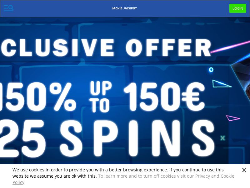 Jackie Jackpot Casino - Exclusive offer TWISTED25 - CPA   NZ, IE, SLO