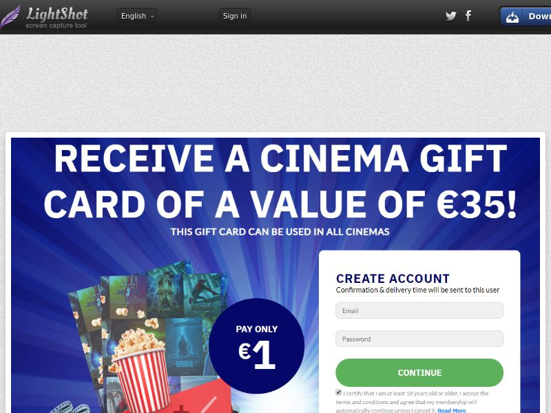 SugarBeats Cinema Voucher (Sweepstake) (CC Trial) - Chile [CL]
