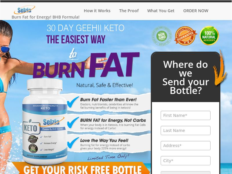 Upsell for Selzia Keto (Trial W/1 Click Upsell) (US) (PRIVATE)