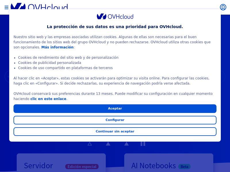 OVHcloud - ES (ES), [CPS | CPA]