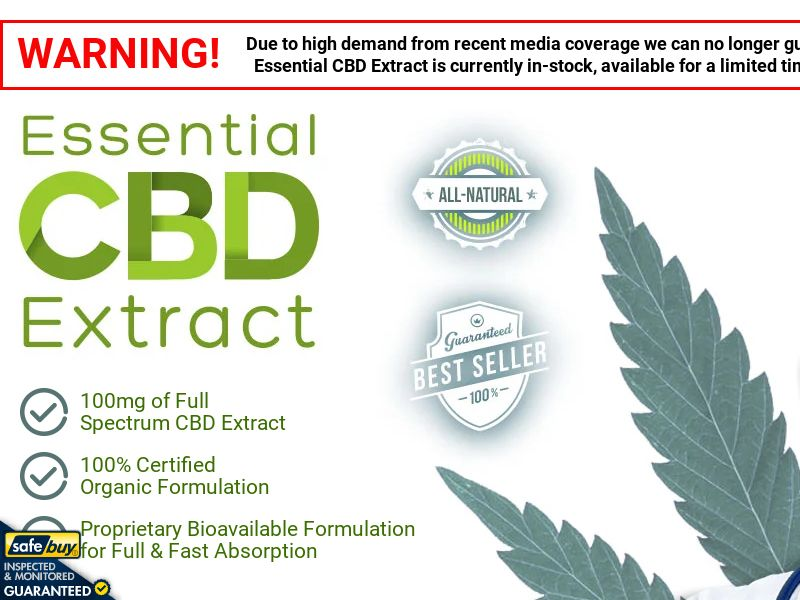 Essential CBD Extract English [INTL] (Social,Banner,PPC,Native,Push,SEO,Search) - CPA {No Email}