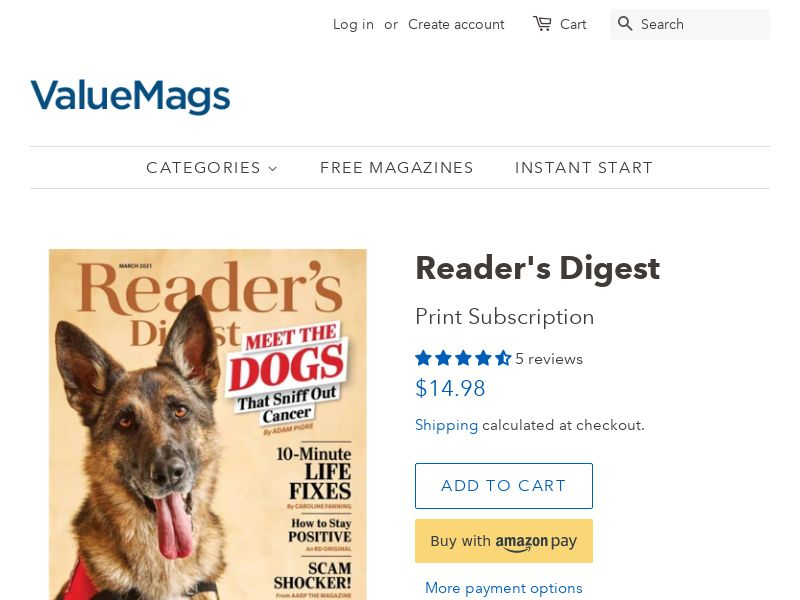 Readers Digest - The Family Magazine Subscription - 50% OFF! | US