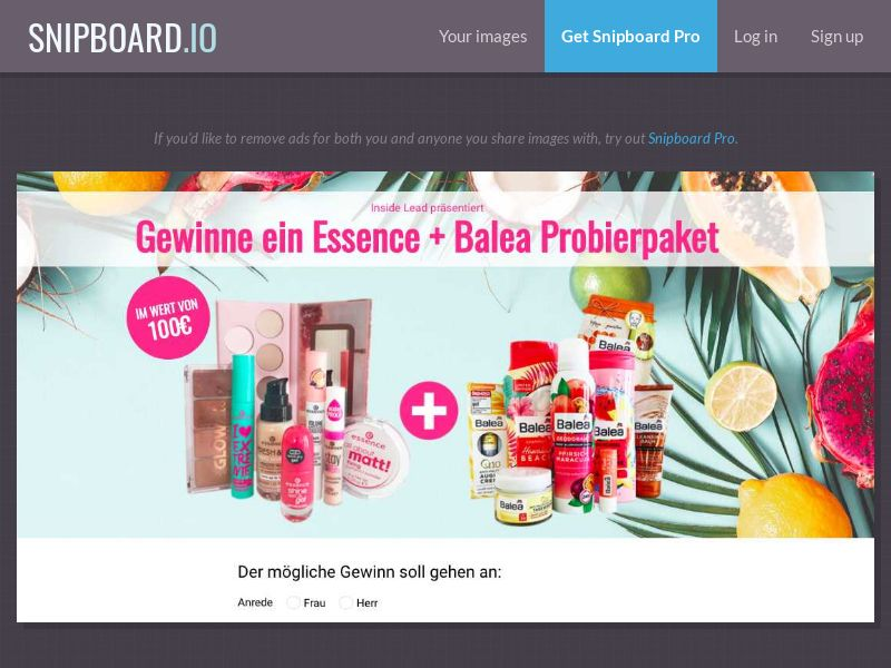 36977 - AT - CH - 7Sections - BALEA + Essence Cosmetics - AT/CH - SOI