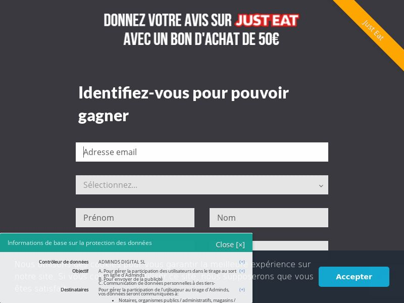 Win Games - Review JustEat With $50 Voucher (SOI) - Sweepstakes - France