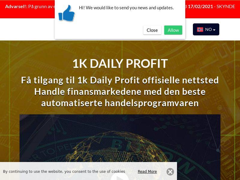 1k Daily Profits Norwegian 2270