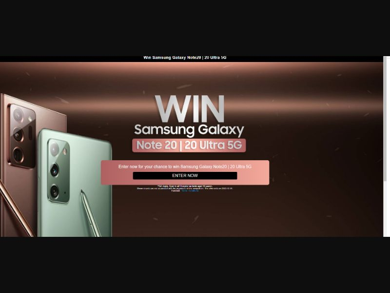 Samsung Sweepstake [MY] - SOI registration