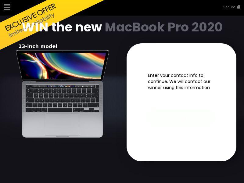 12500) [WEB+WAP] WIN the new MacBook Pro 2020 - US - CPL