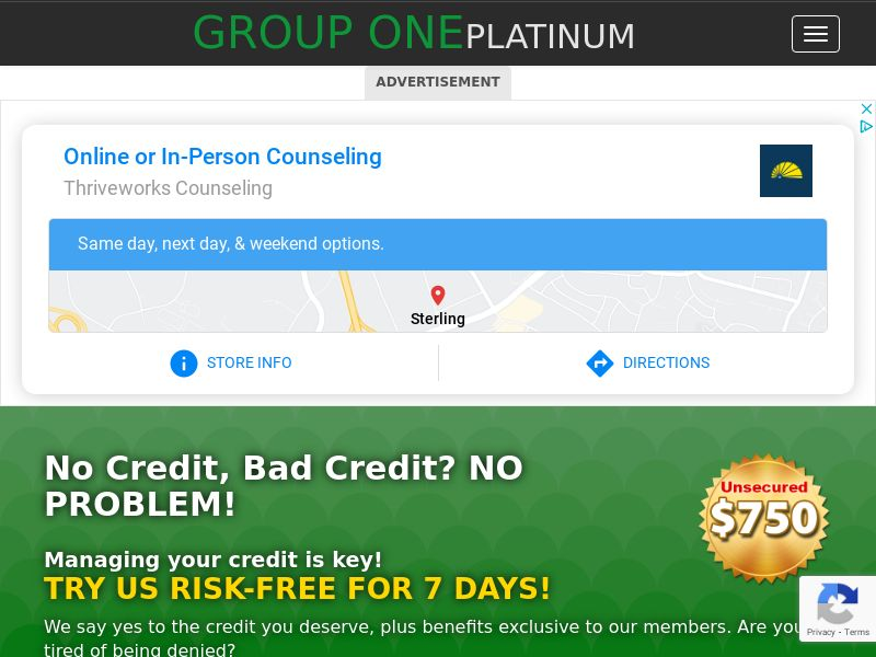 Group One Platinum Freedom Card - Short Form -