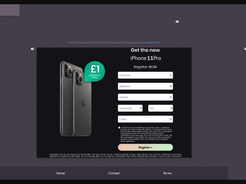 OrangeViral - B - iPhone 11 pro - UK - CC submit