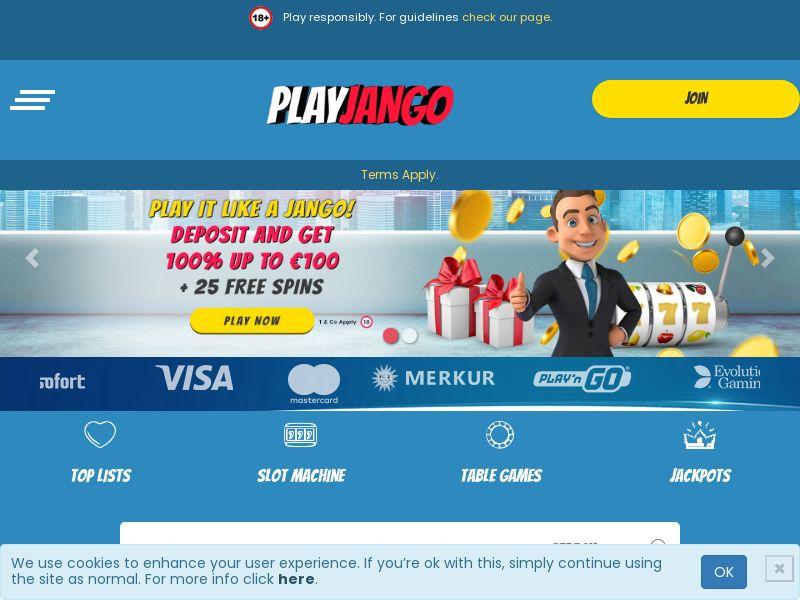 PlayJango.com Casino CPA - NL, CA, NO, FI, IE