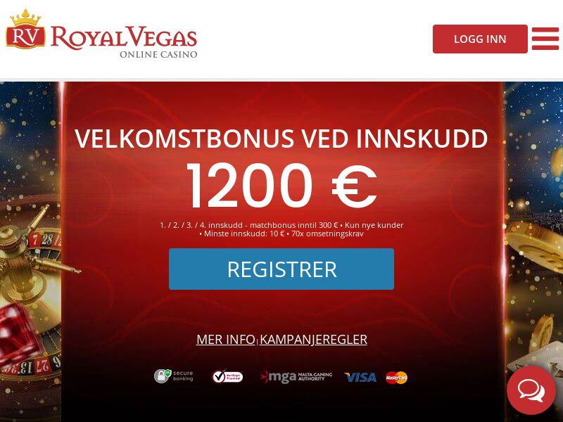 RoyalVegas.com Casino CPA - Norway
