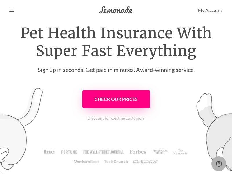 Lemonade.com - Pet Insurance - US