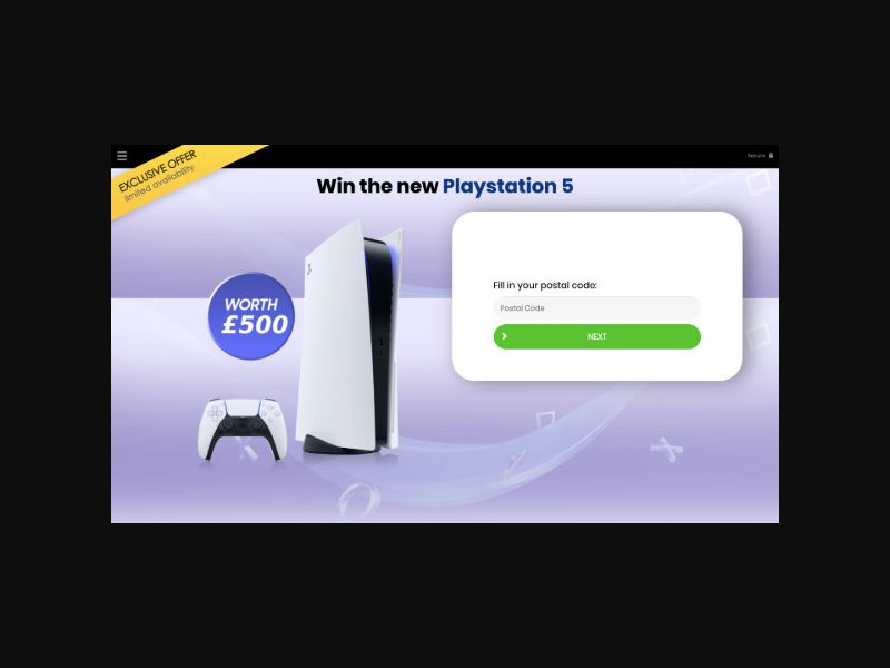 YOUSWEEPS - Win a PlayStation 5 (UK) SOI