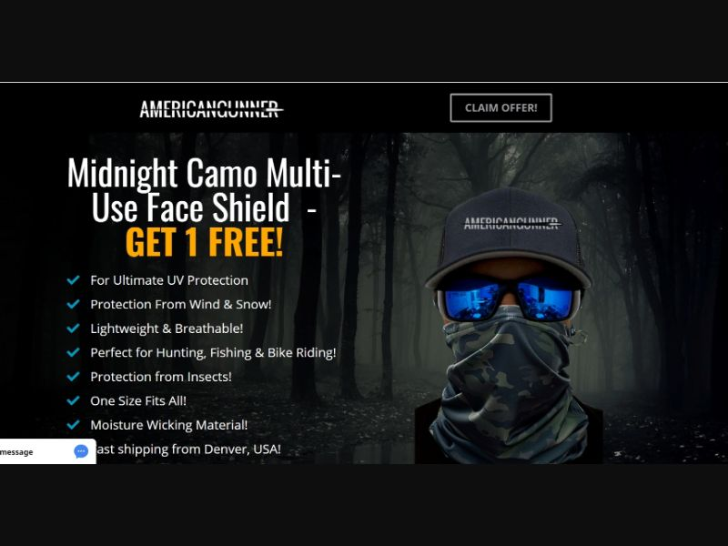 Midnight Camo Face Shield US | CC Submit