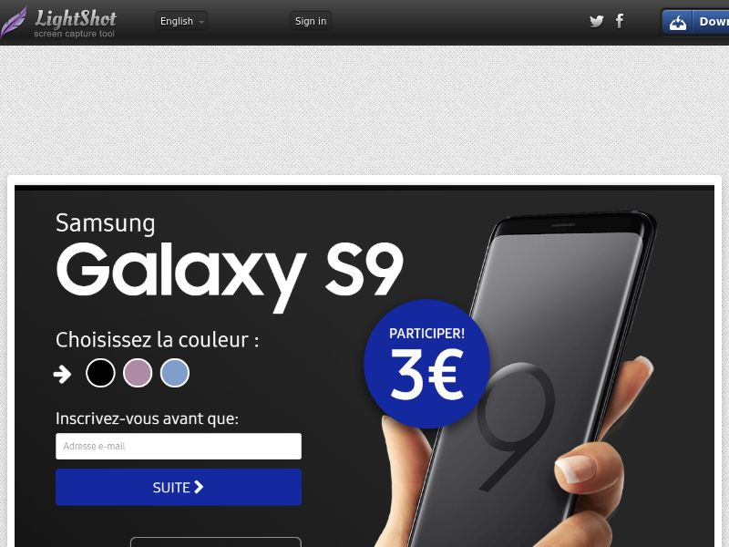 Samsung S9 (Sweepstake) (CC Trial) - France [FR]