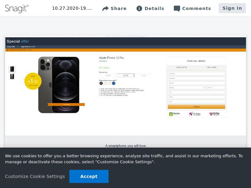 winlotsofthings iPhone 12 Pro (Amazon) | IE