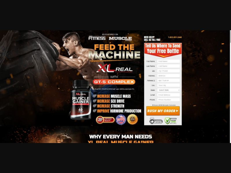 XL Real Muscle Gainer - Muscle Building - SS - [US]