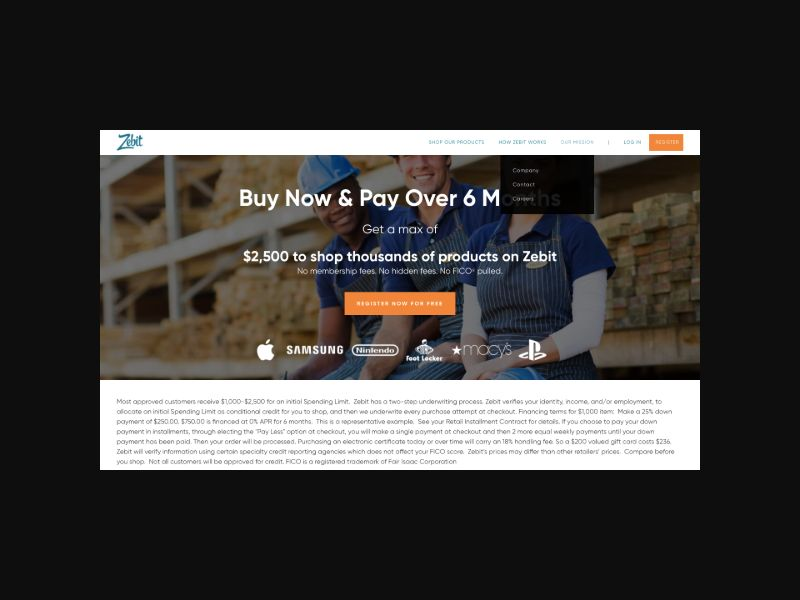 Zebit Online Credit Shopping (US) CPL Incent/SMS Allowed